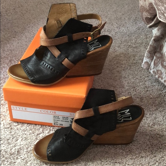 72c9c572618 Miz Mooz Shoes | Mix Mooz Kipling Wedge Sandal Wore Once | Poshmark